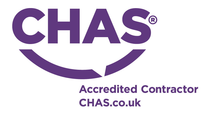 """""""CHAS Accredited contractor CHAS.co.uk"""", CHAS logo, Simon Kelman Plumbing and Heating Ltd, Inverness, North Scotland"""